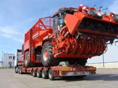 Automobile cargo transportation of special