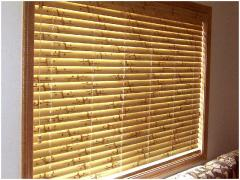 Blinds bamboo installation