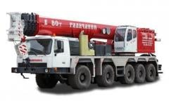 Services of cranes of heavyweights 40, 60, 80-300