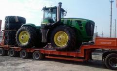 Trasporto del macchinario agricolo