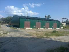 Construction and repair of warehouses, hangars,