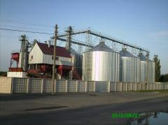 Construction of elevators for grain storage