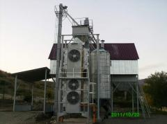 Construction of complexes on drying of grain,