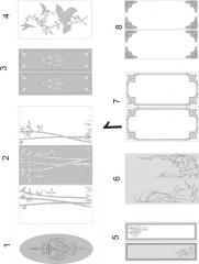 Декорирование стекла пескоструйной обработкой 1(1-8), 2 (1-6)
