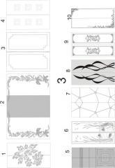 Декорирование офисных перегородок пескоструйной обработкой 3 (1-10), 4 (1-10)