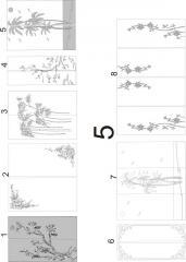 Декорирование витражей пескоструйной обработкой 5 (1-8), 6 (1-9)