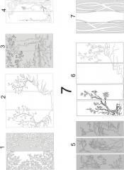Декорирование зеркал с декоративной отделкой пескоструйной обработкой 7(1-7), 8 (1-8)
