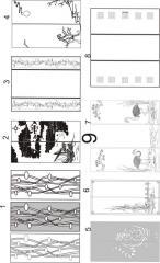 Декорирование стеклянных столешниц с рисунком пескоструйной обработкой 9(1-8), 10 (1-9)
