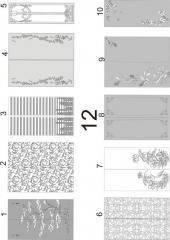 Декорирование стекол для межкомнатных дверей пескоструйной обработкой 11(1-9), 12 (1-10)