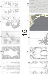 Декорирование стекол для мебельных фасадов пескоструйной обработкой 15-16