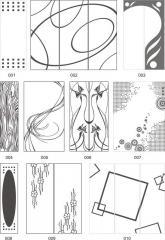 Варианты декора офисных перегородок пескоструйной обработкой 001-019