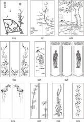 Варианты декора зеркал с декоративной отделкой пескоструйной обработкой 020-039