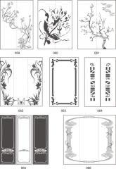 Варианты декора стеклоблоков пескоструйной обработкой 059-075