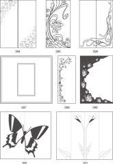 Варианты декора мебельных фасадов пескоструйной обработкой 094-110