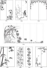 Варианты декора пескоструйной обработкой мебельных фасадов 111-128