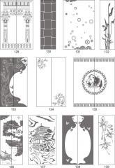 Варианты декора пескоструйной обработкой стекол межкомнатных дверей 129-148