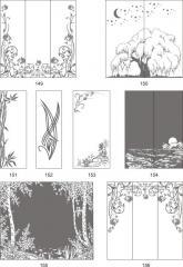 Варианты декора пескоструйной обработкой стеклянных элементов интерьера 149-166