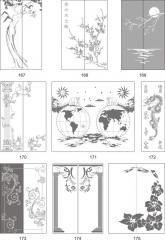 Варианты декора пескоструйной обработкой стеклянных дверей шкафов-купе 167-183
