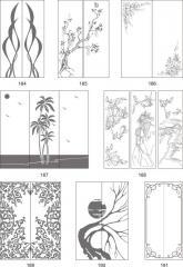 Варианты декора пескоструйной обработкой стеклянных столешниц с рисунком 184-200