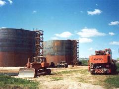 Монтаж, демонтаж, перенос резервуаров стальных. Емкости для воды объемом до 5000 куб.м.