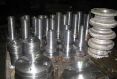 Turning and milling works of any category of