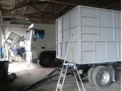 Изготовление зерновозов на грузовом автомобиле