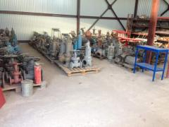 Mounting of pipelines, sale: valves, latches,