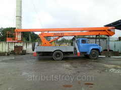 Rent of a tower vehicle