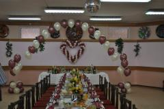 Оформление шарами свадебного зала