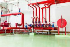 Mounting of systems and fire extinguishing means