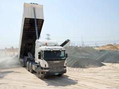 Доставка щебня от 25 тонн
