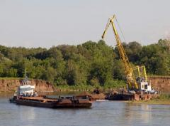 Lease of the barge, rent of a plavkran