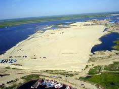 Намыв песка , Украина