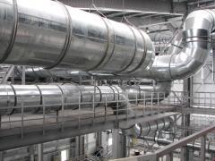 Installation of ventilation industrial