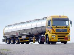 Перевозка бензовозом MAN 38300 объем, Перевозка нефтепродуктов, Перевозка бензовозом MAN