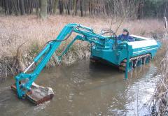 Очистка водоемов,  намыв песка,  углубление...