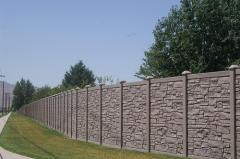 Installation of concrete fences