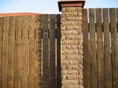 Installation of wooden fences