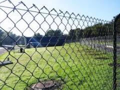 Installation of mesh fences. Installation of