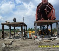 Mounting of the boiler equipment, mounting of