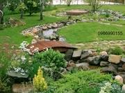 Landscaping of the garden Design, Landscape,