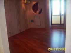 Polishing of a parquet Parquet works Kharkiv and