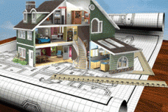 Services in construction of buildings Design,