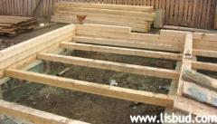 Floors in wooden house. Application log