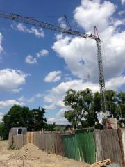 Rent of a self-folding tower crane of Pekazett