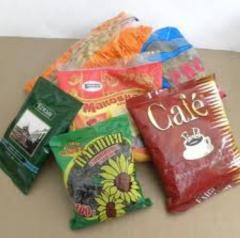 Manual packaging of loose food