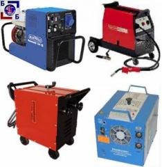 Rent of welding machines
