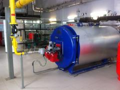 Services in installation, start-adjusting and maintenance service of the boiler equipment