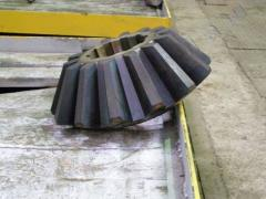 Долбежка шлицев ведущее колесо/барабан подьема/барабан напора ЭКГ-8