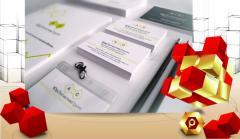 Разработка фирменного стиля и печать брендированной продукции (логотип, бланки, папки, блокноты, блоки для записи, пакеты, ручки)